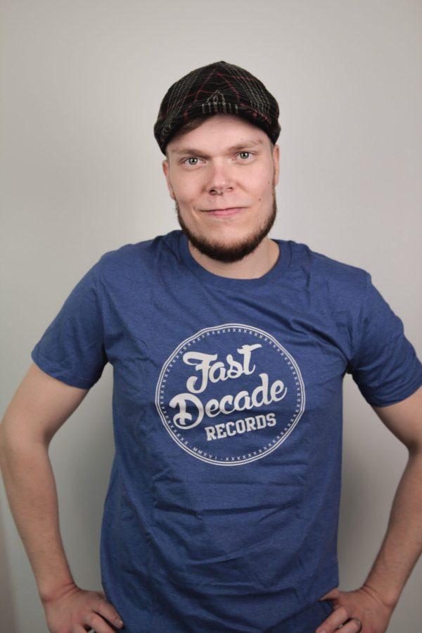 Fast Decade Records T-shirt denim